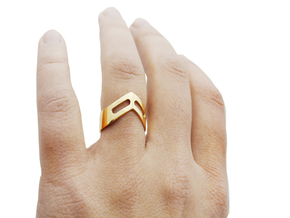 STUDIO PAULBAUT LOGO Ring (Size 5) in 18k Gold