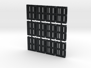 1/56th scale pallet pack (12 pieces) in Black Hi-Def Acrylate