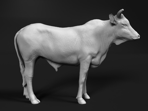 ABBI 1:32 Yearling Bull 1 in White Natural Versatile Plastic