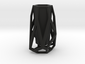 GEOMETRIC VASE in Black Strong & Flexible