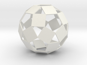 Open Rhombicosadodecahedron in White Natural Versatile Plastic