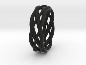 Mobius ring braid  in Black Premium Strong & Flexible: 8 / 56.75