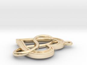 Infinite Love in 14k Gold Plated Brass