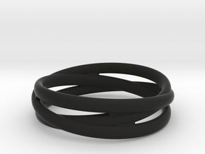 Triple alliance ring in Black Premium Strong & Flexible: 6.25 / 52.125