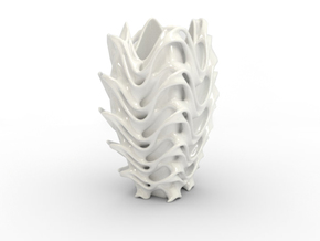 Porcelain Tower Vase in Gloss White Porcelain