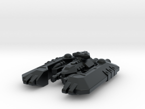 Badakh Battleship in Black Hi-Def Acrylate