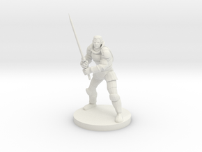 Half Elf Great Weapon Fighter in White Natural Versatile Plastic