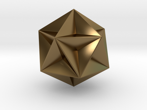 0415 Great Dodecahedron (F&full Color, 8cm) #001 in Polished Bronze