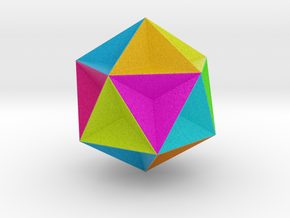 0415 Great Dodecahedron (F&full Color, 8cm) #001 in Full Color Sandstone