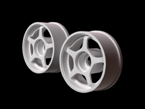 Mini Z RWD Wheel Front offset +1 in White Strong & Flexible