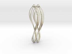 Flower 50 Twist - Pair in 14k White Gold