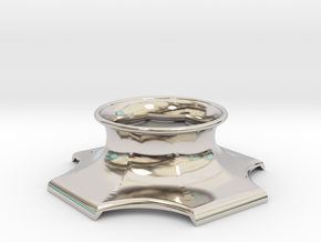 """The Universe Sphere Base """"LED Fitting"""" in Rhodium Plated Brass"""
