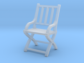 1:87 Slatted Folding Wooden Civil War Chair in Smooth Fine Detail Plastic