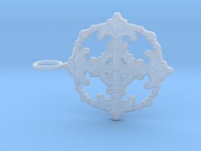 Croix Fleur de Lys baroque cercle3 in Smoothest Fine Detail Plastic