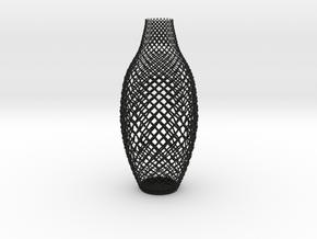 Braided Vase in Black Natural Versatile Plastic