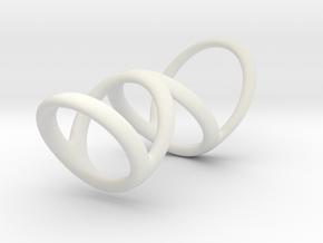 Ring for Heather L1 20 L2 35 D1 13_21 D2 14_45 D3  in White Premium Versatile Plastic