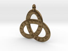 Saxon Rune Poem Triquetra 4.5cm in Natural Bronze