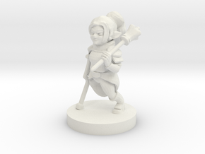Halfling Female Cleric Missing Leg in White Natural Versatile Plastic