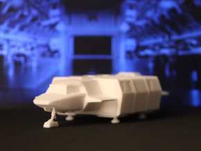 Shuttle (Squad) Landed (V, The Visitors) in White Natural Versatile Plastic: 1:72