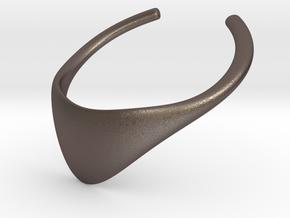 Super in Polished Bronzed Silver Steel: Medium