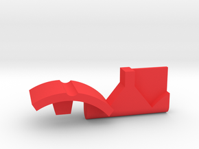 Warthog throttle part - center detent in Red Strong & Flexible Polished