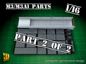 M3/M3A1 halftrack parts (1/16) (2of2) in Smooth Fine Detail Plastic