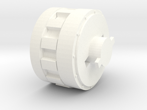 AA_Adapter_Gun_Mount in White Strong & Flexible Polished