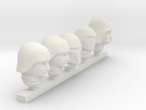 officer random heads in White Natural Versatile Plastic