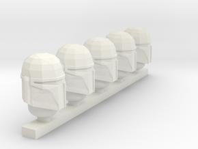 boba fett helmets in White Strong & Flexible