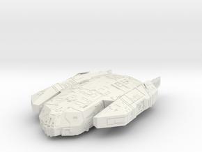"Kushan ""Resolute"" Corvette in White Natural Versatile Plastic"