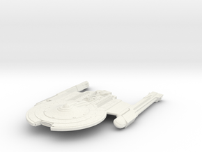 Mckee Class V  BattleCruiser in White Natural Versatile Plastic