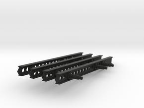 24-M-8 Katyusha Launcher Mid Rails Scale 1:35 in Black Premium Versatile Plastic