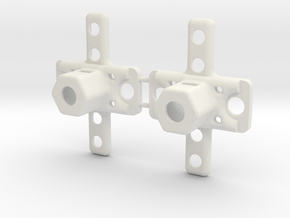 1 Set of 2 truck pivots in White Natural Versatile Plastic