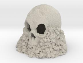Skull on Rocks in Natural Sandstone