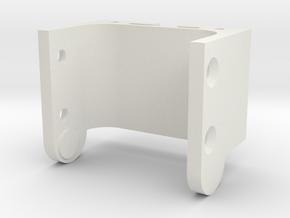 SNOPA gimbal 360 Camera Holder part1 in White Natural Versatile Plastic
