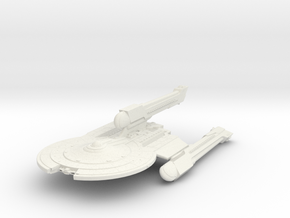 Mckee Class VII Refit B  BattleCruiser in White Natural Versatile Plastic