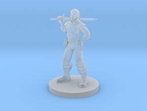 Hexblade Warlock in Smooth Fine Detail Plastic
