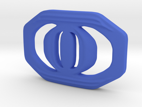 Buckle for material belt in Blue Processed Versatile Plastic