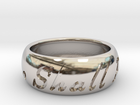 This Too Shall Pass ring size 11 1/2 in Rhodium Plated Brass