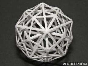 1st Stellation of an Icosidodecahedron in White Strong & Flexible