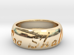 This Too Shall Pass Size ring size 10 1/2 in 14K Yellow Gold