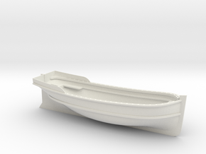 XVIII-XIX century launch 1:24 Scale in White Natural Versatile Plastic