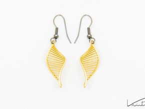 DNA Earrings 180 in Natural Brass