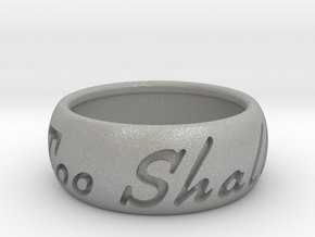 This Too Shall Pass ring size 10 in Aluminum