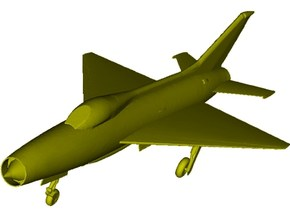 1/87 scale Mikoyan Gurevich MiG-21 Fishbed C model in Smooth Fine Detail Plastic
