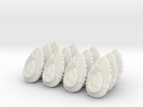 Grav / Hover Tank (12 Set) in White Natural Versatile Plastic