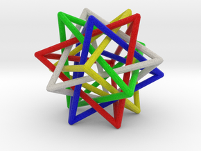 Interlaced Tetrahedrons 3 Inch x 3 Inch in Full Color Sandstone