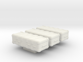 1/87 Scale Weapons Cases v7 x3 in White Natural Versatile Plastic