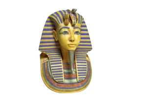 King Tut's Golden Death Mask in Full Color Sandstone