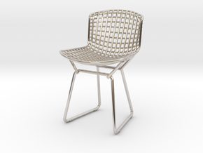 Knoll Bertoia Side Chair Frame 1:12  Scale in Platinum